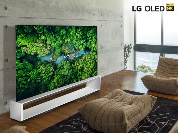 CES 20 > TV Oled Ultra HD 8K LG ZX : processeur Alpha 9 Gen 3