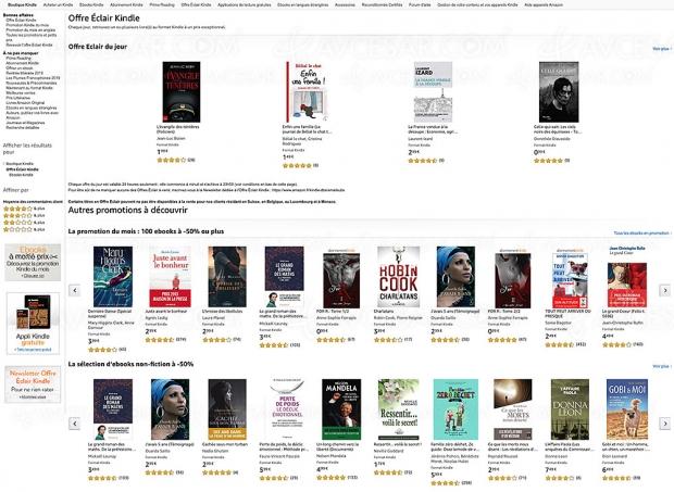 Amazon, 100 eBooks à ‑50% de remise