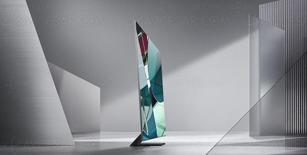 CES 20 > TV QLED Ultra HD 8K Samsung Q950T, l'image occupe 99% de l'écran sans bords