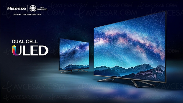 CES 20 > Hisense Uled U9X, TV QLED Dual Cell : 2 000 000 zones, HDR Dolby Vision/HDR10+, Dolby Atmos