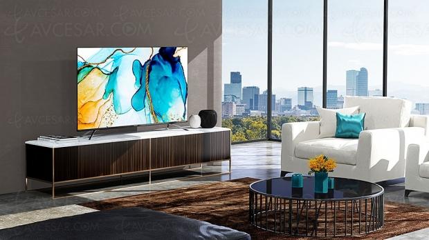 CES 20 > TV QLED 8K Hisense H75U9K, modèle 75'' HDR Dolby Vision/HDR10+, Dolby Atmos…