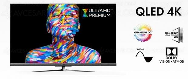 CES 20 > TV QLED Ultra HD 4K Hisense U8QF, 55''/65'' HDR Dolby Vision/HDR10+, Dolby Atmos…