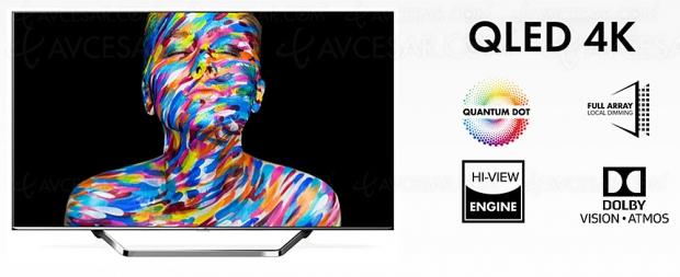 CES 20 > TV QLED Ultra HD 4K Hisense U7QF, 50''/55''/65'' HDR Dolby Vision/HDR10+, Dolby Atmos…