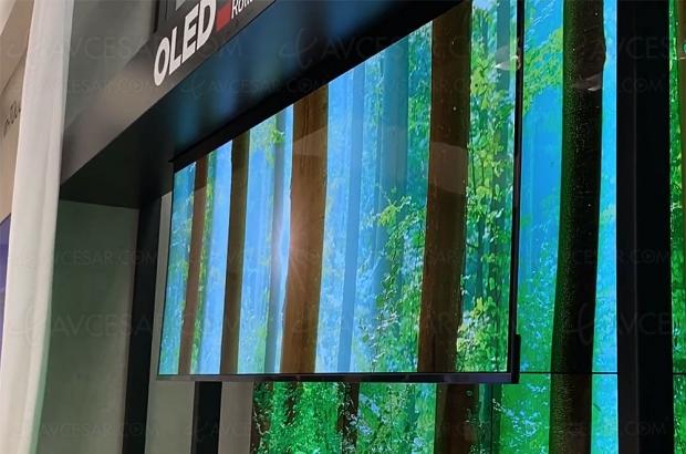 CES 20 > TV Oled LG Display « déroulable » (du plafond) démontré en vidéo