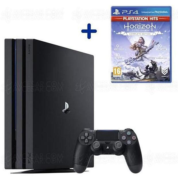 Soldes hiver 2020, PS4 Pro 1 To noire + Horizon Zero Dawn à 309,99 €, soit 110 € de remise