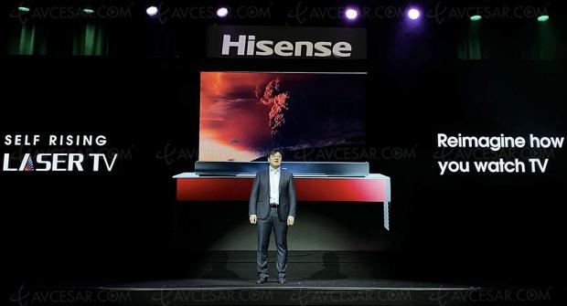 CES 20 > Écran « enroulable » Hisense Self Rising Laser TV : démonstration en vidéo