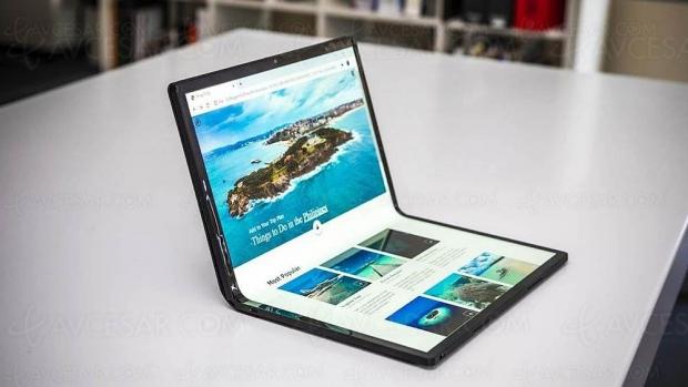 Prototype de tablette pliable 17'' signé Intel