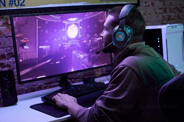 CES 20 > JBL Quantum : casques et enceintes pour les joueurs PC