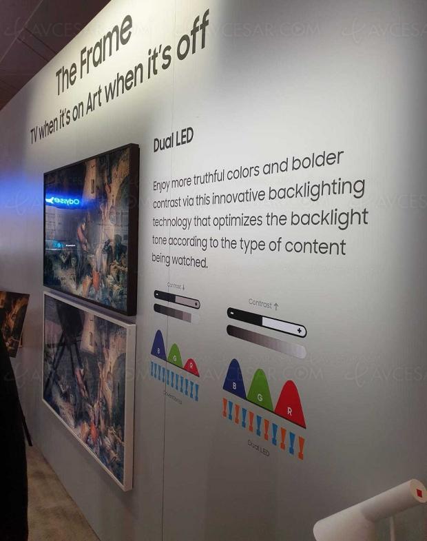 CES 20 > Samsung QLED Q60T/Q70T et The Frame : Dual LED pour améliorer contraste et couleur