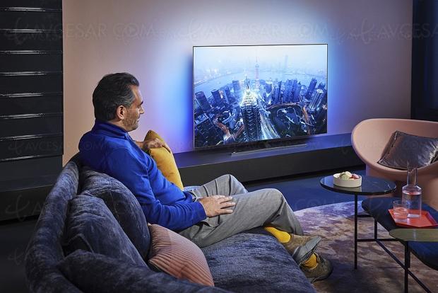 TV Oled Philips OLED805 et Philips OLED855, quatre modèles avec P5 4e génération