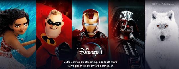 Disney+ plus tôt que prévu en France, à 6,99 € par mois