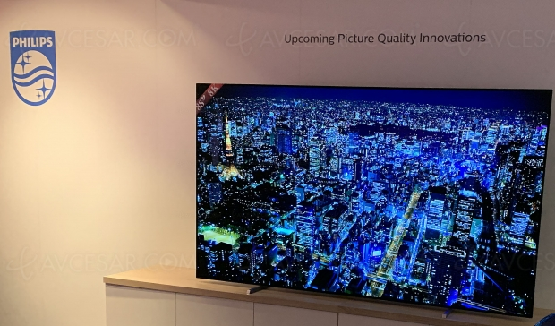TV Oled Ultra HD 8K Philips 88'', rendez‑vous en 2021