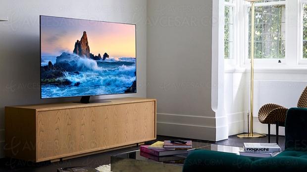 TV QLED Ultra HD 4K Samsung Q80T : OTS, AVA, Q‑Symphony, AI Sound, Quantum 4K 2020 et AI Upscaling 2.0