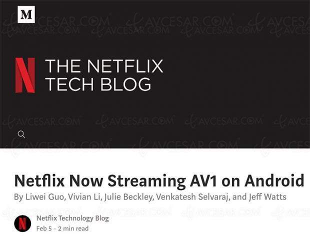 Netflix adopte l'AV1 sur Android mobile