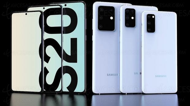 Smartphones Galaxy S20, S20+ et S20 Ultra : 5G, 108 Mpxls et 8K, Samsung déjà dans le futur
