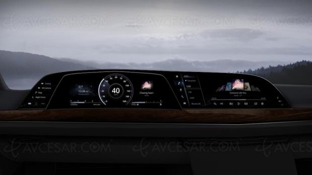 Premier tableau de bord P‑Oled incurvé LG Display sur la Cadillac Escalade