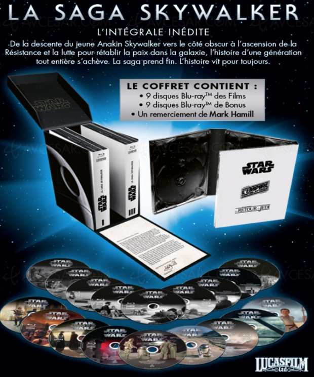 Sortie France L'ascension de Skywalker 4K + coffret intégral Saga Skywalker le 24 avril