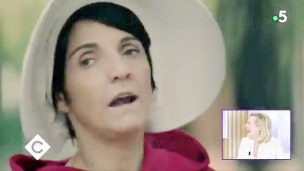 Parodie de la Servante écarlate par Florence Foresti, Elisabeth Moss se marre