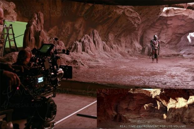 Coulisses The Mandalorian : découvrez « le Volume », le fond LED à 270° chez ILM