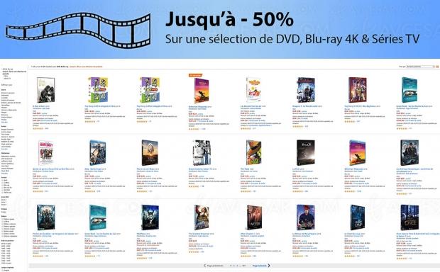 Amazon Bonnes Affaires, 4 000 4K Blu‑Ray, DVD et séries TV jusqu'à ‑72%