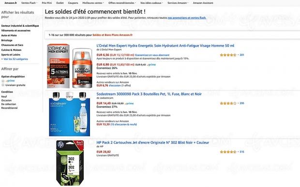Bons plans et soldes Amazon, 300 000 articles à prix réduits