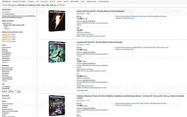 Amazon Semaine de la vidéo, 141 coffrets 4K Ultra HD à ‑20 €