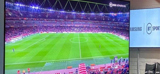 Football en 8K HDR : première diffusion live BT Sport sur TV Samsung Q950R