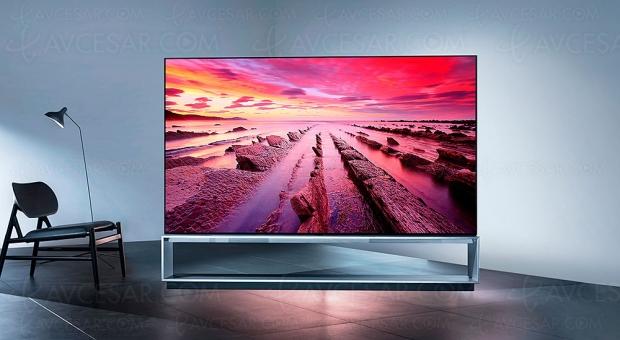 TV Oled Ultra HD 8K LG ZX, mise à jour spécifications et prix indicatifs