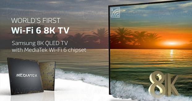 Samsung Q950T, TV QLED 8K certifiés Wi‑Fi 6 (première mondiale)