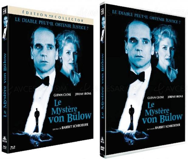 Le mystère von Bülow avec Glenn Close et Jeremy Irons, éditions Collector remasterisées