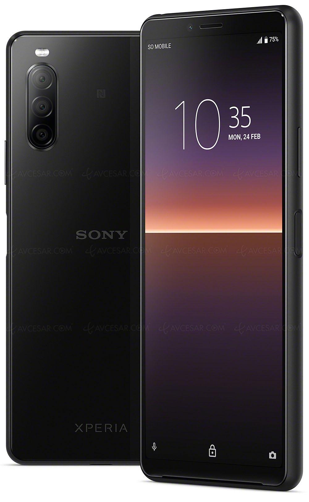Smartphone Sony Xperia 10 Ii Ecran 21 9 Oled Resistant Resiste A L Eau Et Triple Capteur Photo