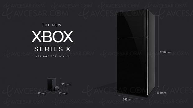 Xbox Series X, moins grande qu'un frigo, plus grande qu'une banane