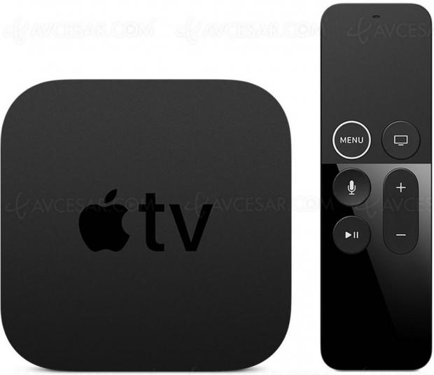 Nouveau boîtier Apple TV 6 en novembre, jusqu'à 128 Go de stockage ?