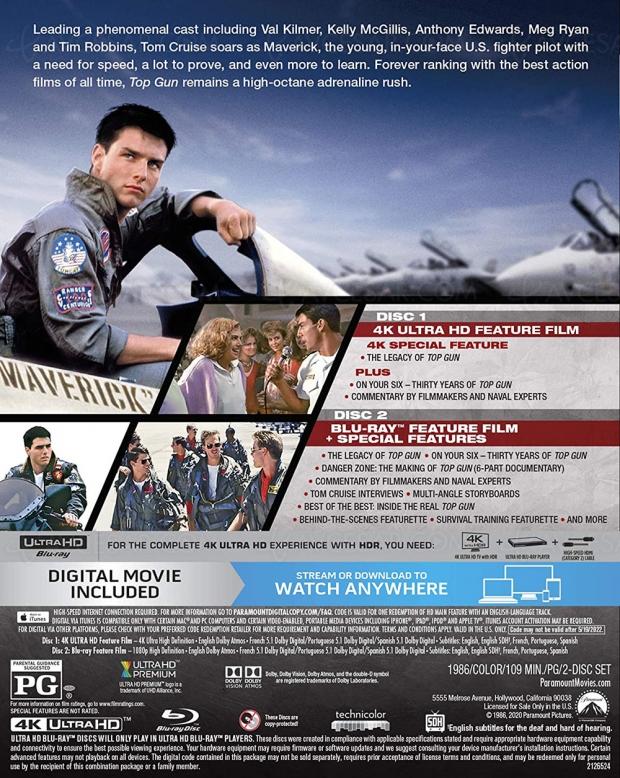 Top Gun 4K HDR Dolby Vision, ça va briller, sortez les Ray‑Ban !