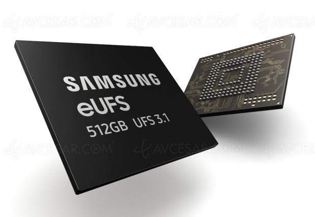Samsung produit la mémoire de stockage smartphone la plus rapide au monde