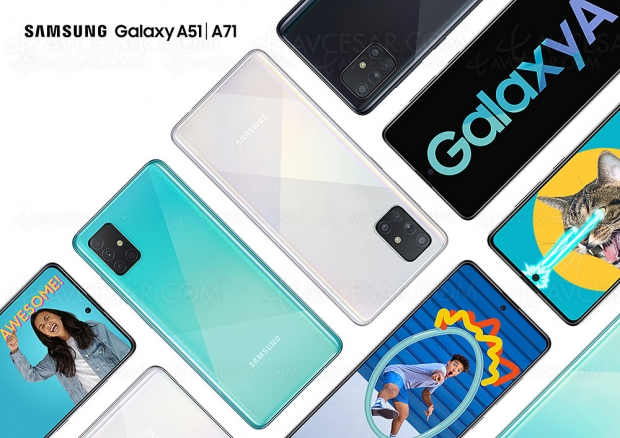 Samsung Galaxy A51 et Samsung Galaxy A71, grand écran et quadruple capteur photo