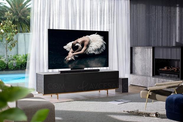 Samsung HW‑Q800T, barre sonore Dolby Atmos 3.1.2/DTS:X, Bluetooth, Acoustic Beam 2.0, Q‑Symphony, Alexa et Bixby intégrés