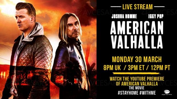 Le documentaire American Valhalla d'Iggy Pop en streaming sur YouTube ce soir !
