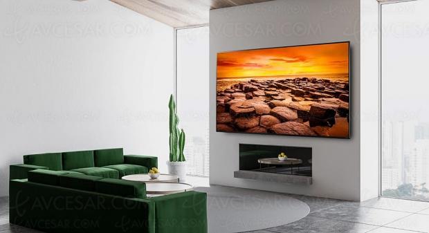 TV LED Ultra HD 8K LG NANO976, mise à jour spécifications et prix indicatifs