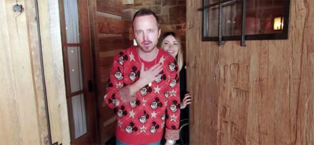 Aaron Paul (Breaking Bad), son home private Idaho avec Home Cinéma des bois (vidéo)