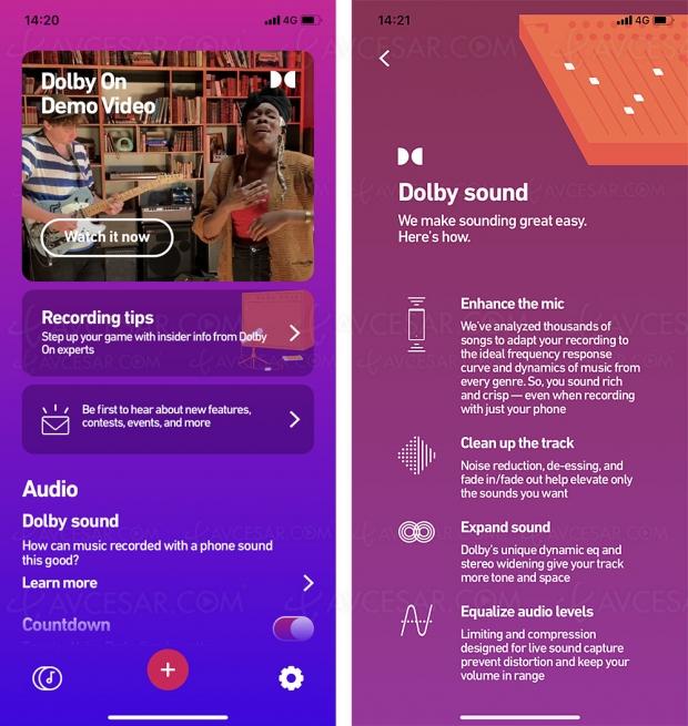Application Dolby On, un ingénieur du son dans la poche (gratuit)