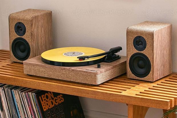 Victrola : cultivez votre fibre écolo avec la platine vinyle en bois et lin tissé