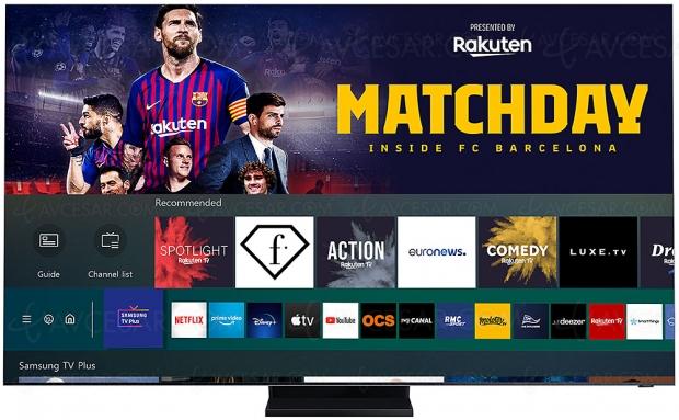 Samsung TV Plus s'enrichit de quatre chaînes gratuites signées Rakuten TV