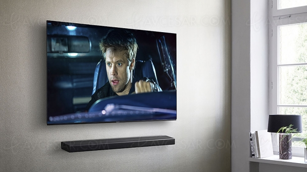 Panasonic SC‑HTB400, barre de son 2.1 et Bluetooth
