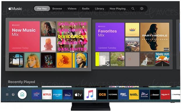 Apple Music disponible sur les Smart TV Samsung (depuis les modèles 2018)