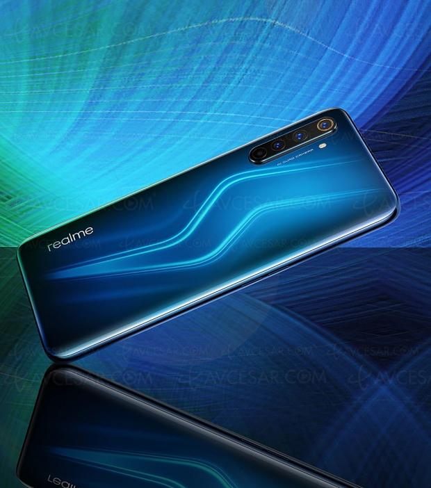 Smartphone Realme 6 Pro 5G, écran 6,44'' 90 Hz, Wi‑Fi 6 et 6 caméras