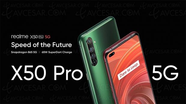 Smartphone Realme X50 Pro 5G, écran 6,44'' 90 Hz, Wi‑Fi et design premium