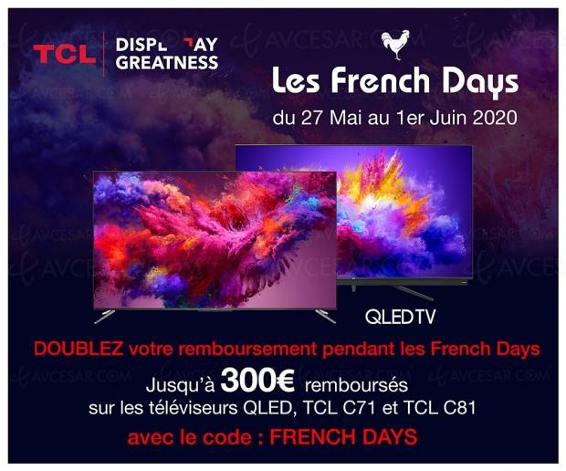 Soldes French Days TV QLED TCL 65C71 à 599 € soit 300 € ou -33% de remise