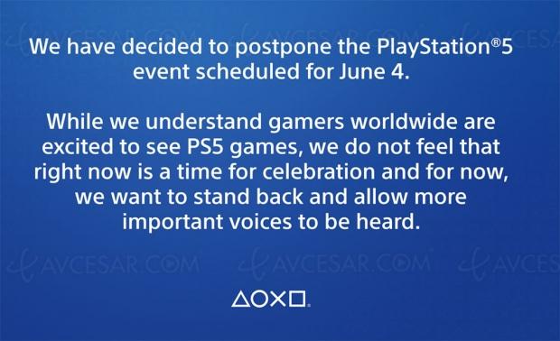 Conférence PlayStation 5 du 4 juin reportée pour défendre George Floyd (#BlackLivesMatter)