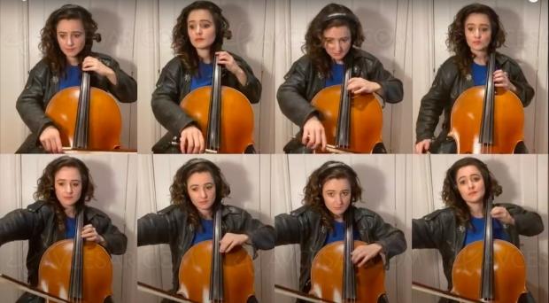 Huit violoncelles pour l'intro de K2000, et c'est très chouette